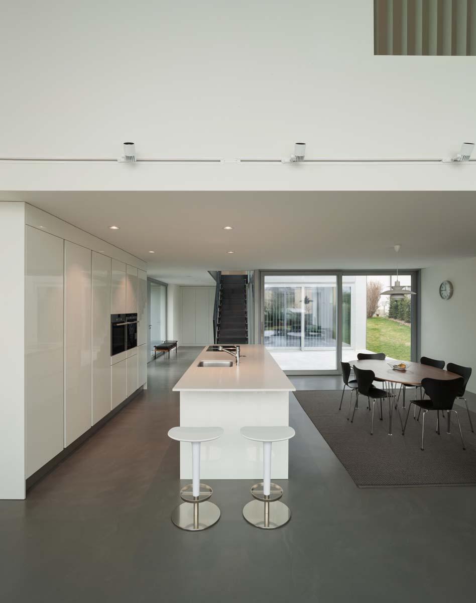 Fugenlose Beton Ciré Oberfläche in Küche