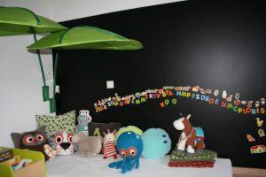 Magnetische und beschreibbare Fläche in Kinderzimmern