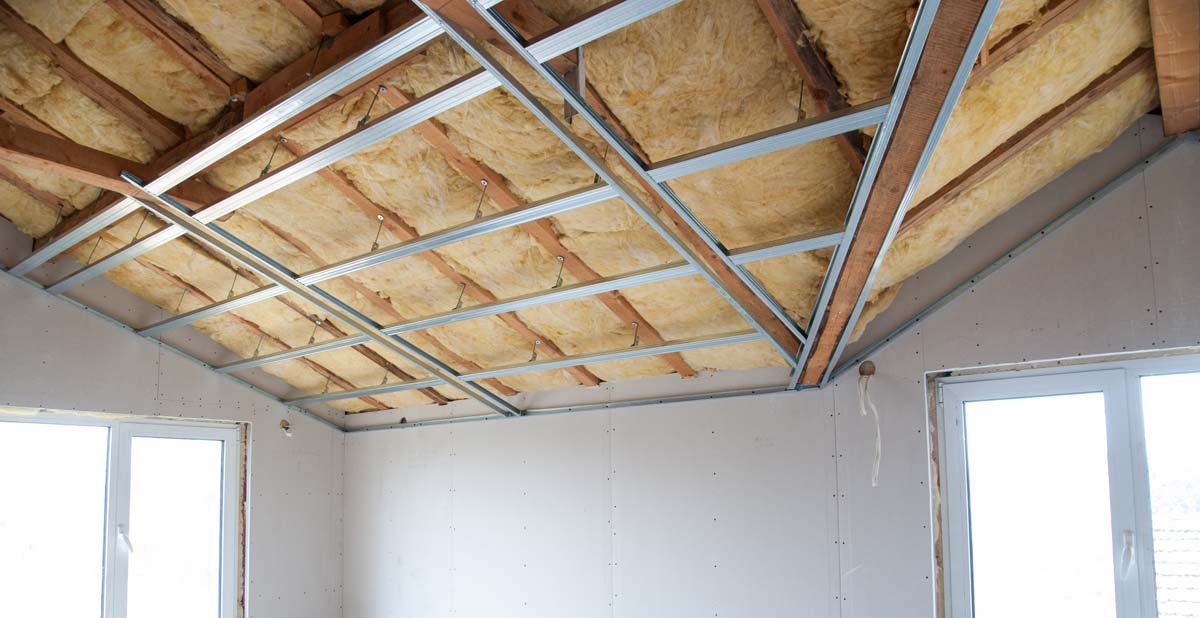 Innenisolierung im Dachgeschoss