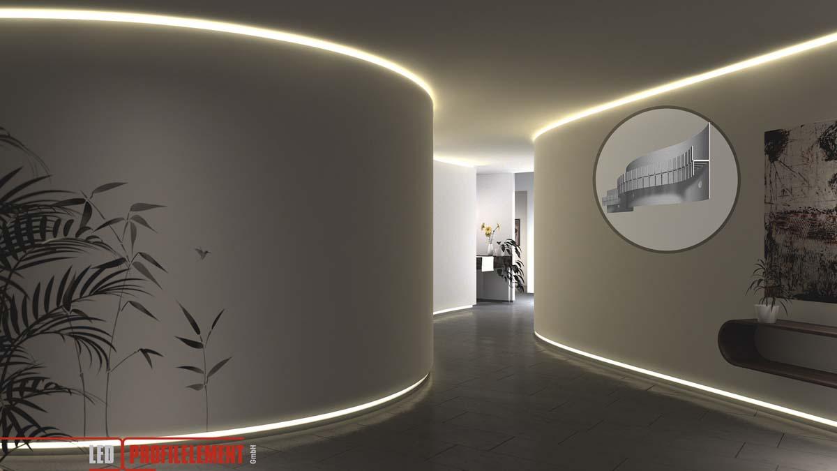 Lichtgestaltung mit LED Profilelementen