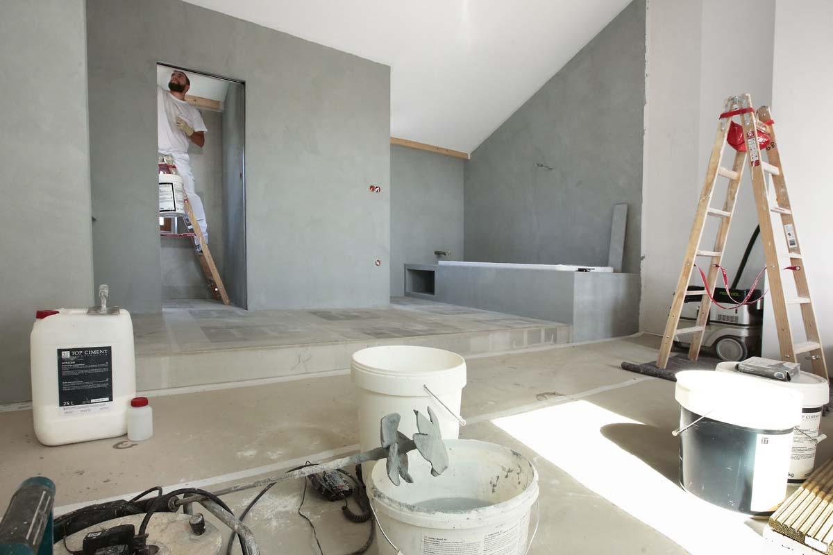 Vorbereitung für Beton Ciré