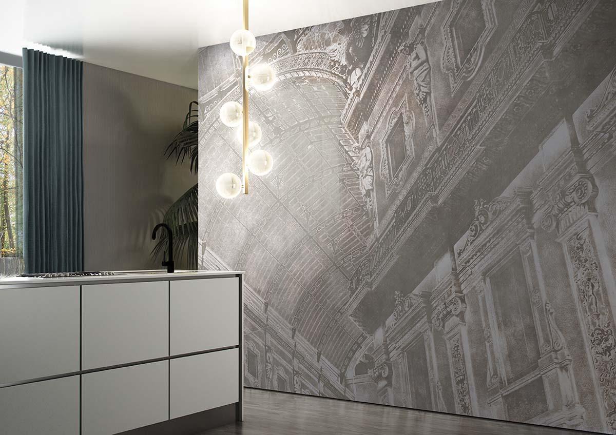 Wandbreite Design Tapete aus Italien