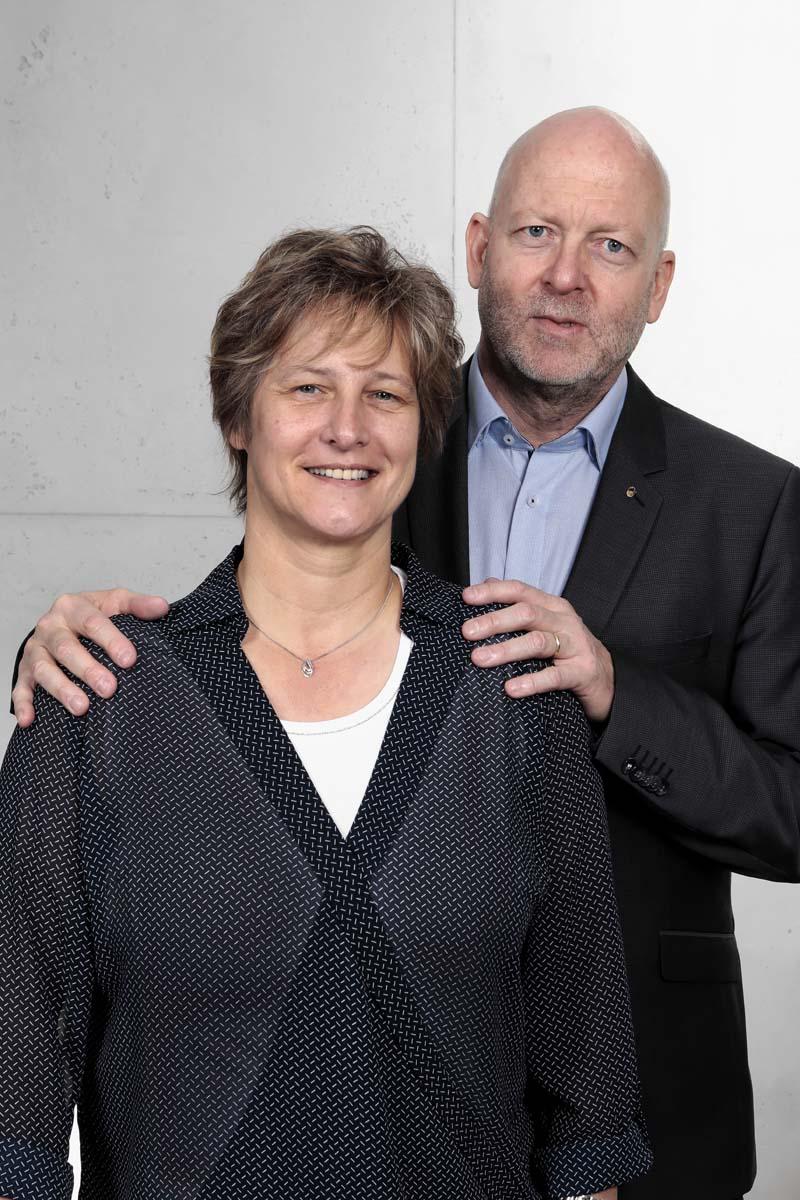Malermeister Alain Kutten und seine Frau Colette