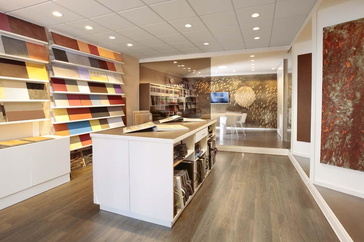 Showroom mit grossen Auswahl von Wandgestaltungen