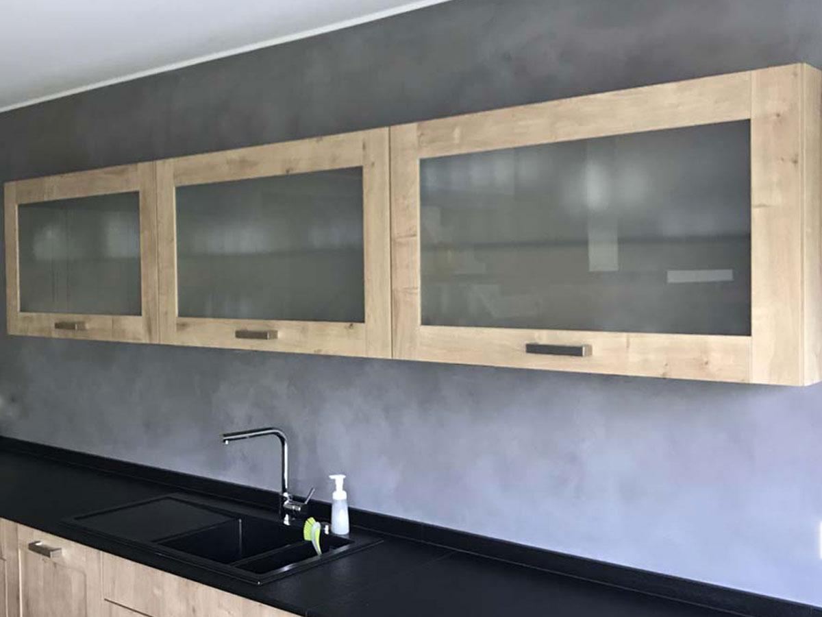 Küchenspiegel mit Beton Ciré