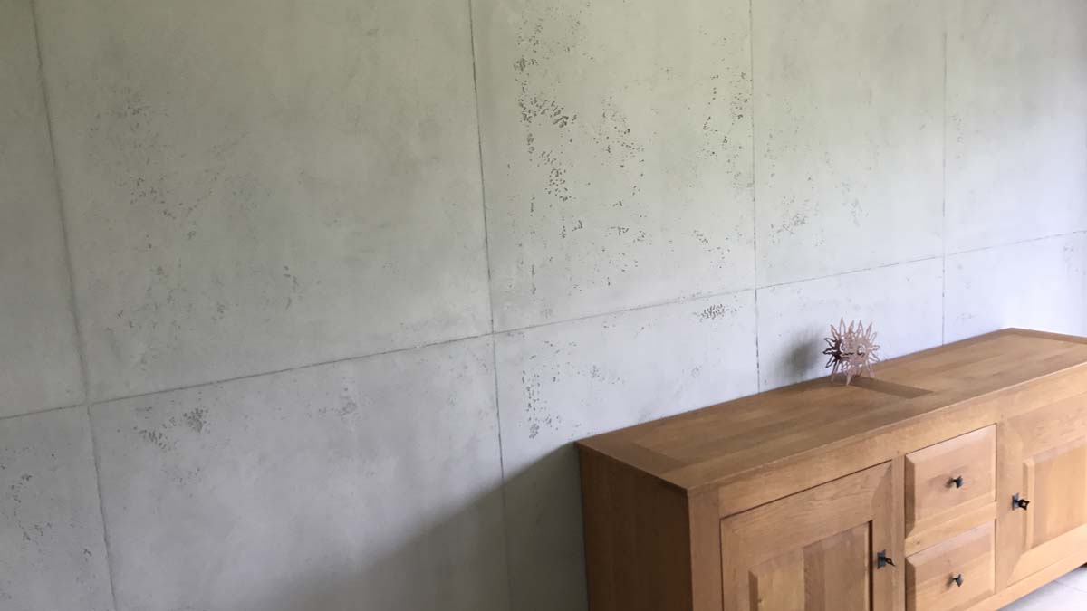 Décor mural en béton vu
