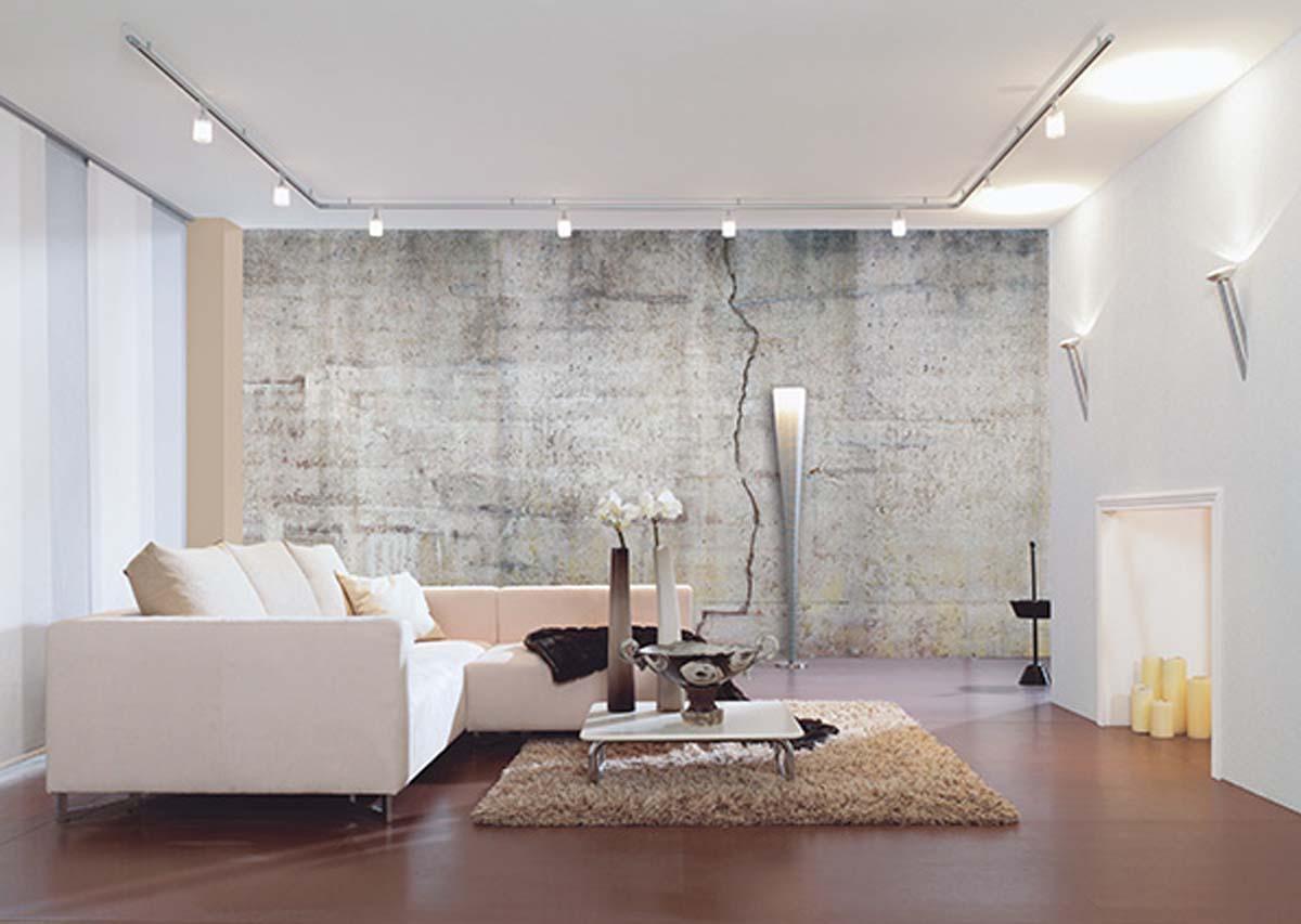 Décoration Murale Bureau Entreprise aspect béton tendance pour vos murs - d'gestaltungshandwierker