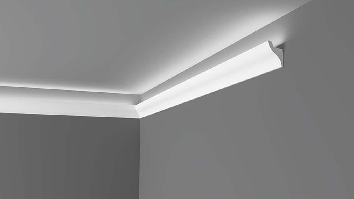 Moulures plafond avec éclairage indirect