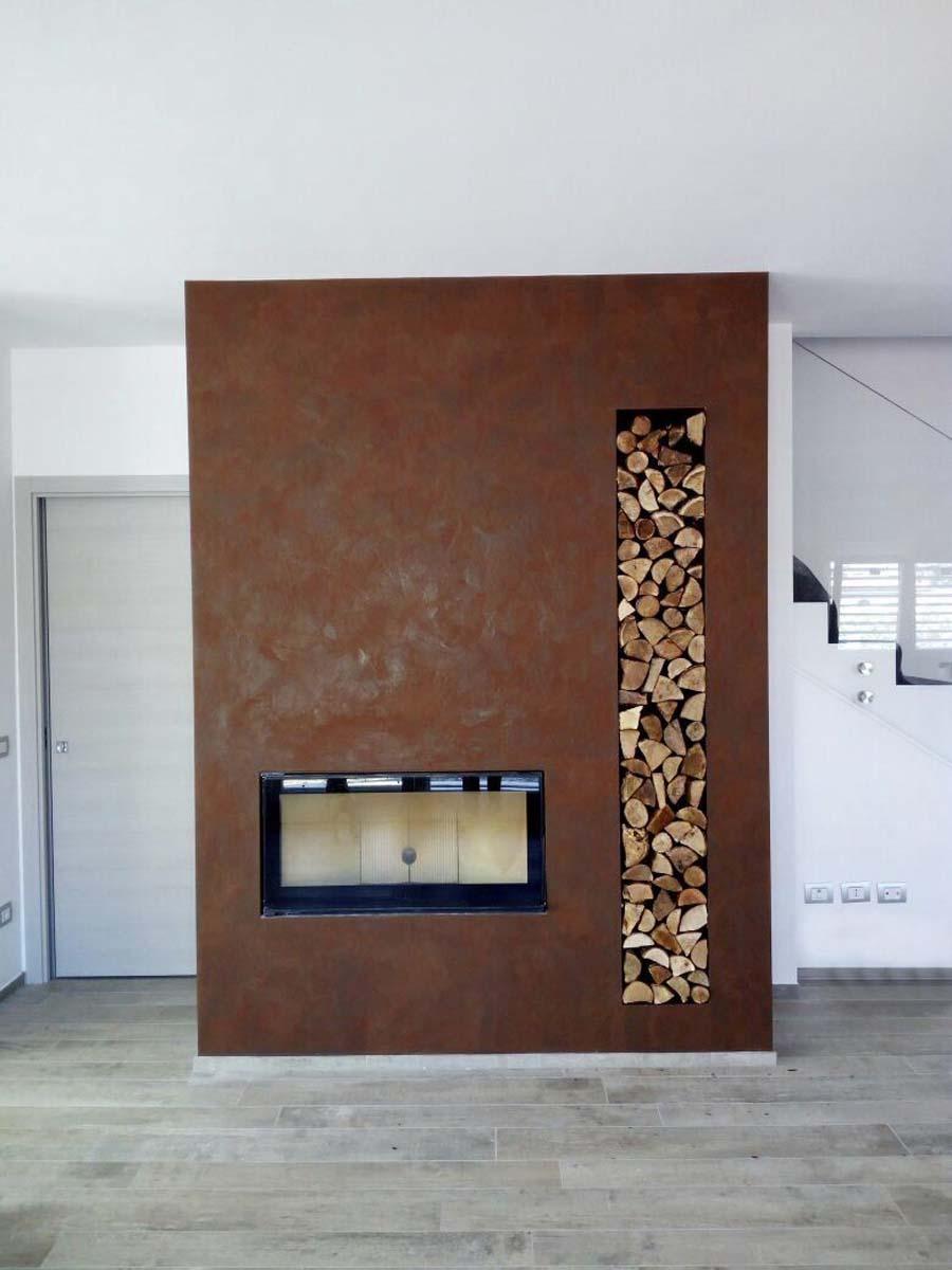 Tapis Salon Couleur Rouille aspect rouille raffiné - pour des murs avec une touche